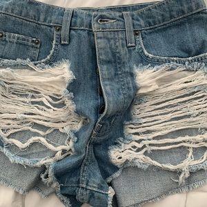 Denim short shorts almost new